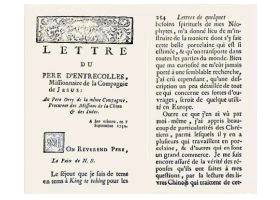 Letters of Père d'Entrecolles 1712 and 1722